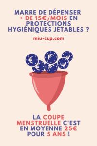avantages cup menstruelle