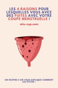 fuites cup menstruelle