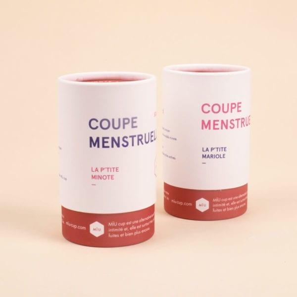 Deux coupes menstruelle petite
