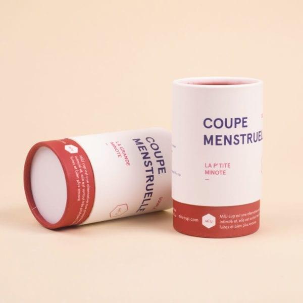 deux Coupe menstruelle souples