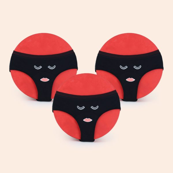 TRIO de culottes menstruelles forme shorty